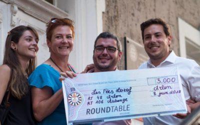 Un chèque de 3000 euros de la part des Tables Rondes (Arlon at Aubange)